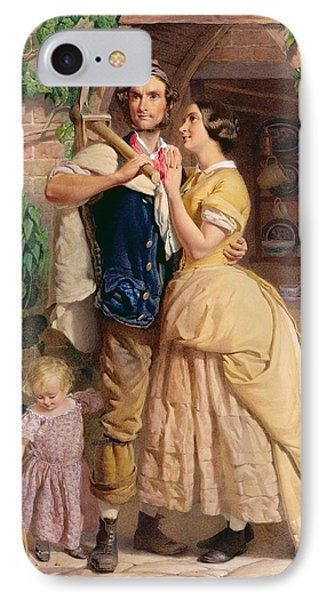 The Sinews Of Old England Phone Case by George Elgar Hicks