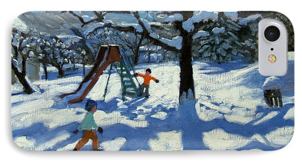 The Slide In Winter Phone Case by Andrew Macara