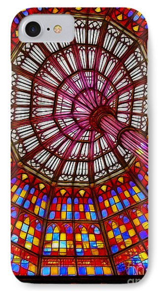 The Stained Glass Ceiling Phone Case by Judi Bagwell
