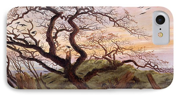 The Tree Of Crows Phone Case by Caspar David Friedrich