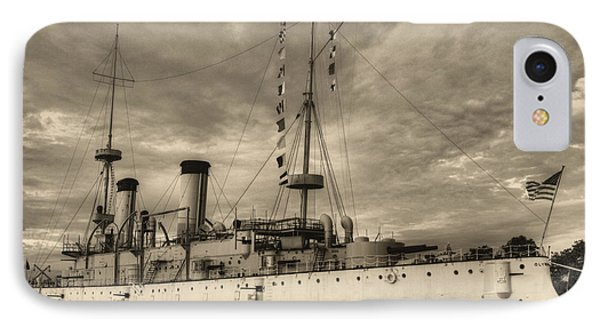 The Uss Olympia Black And White IPhone Case by JC Findley