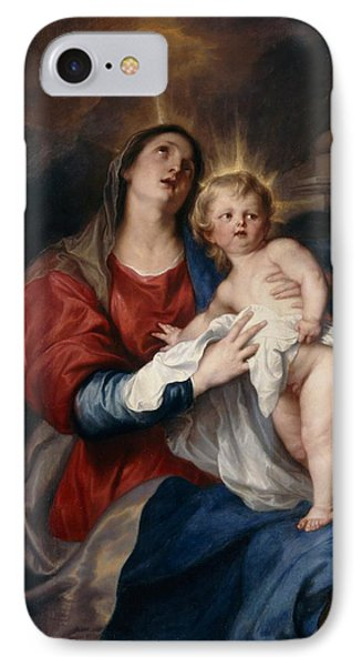 The Virgin And Child IPhone Case by Sir Anthony Van Dyck