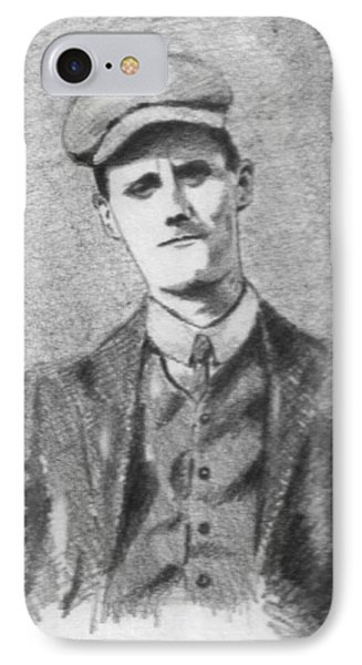The Young James Joyce Phone Case by John  Nolan