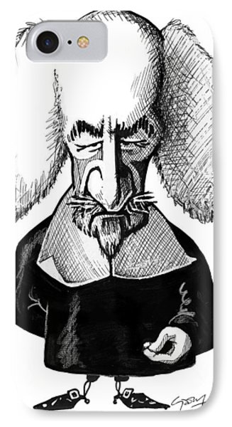 Thomas Hobbes, Caricature Phone Case by Gary Brown