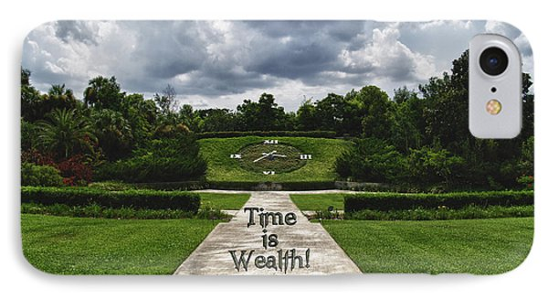 Time Is Wealth Phone Case by Barbara Middleton