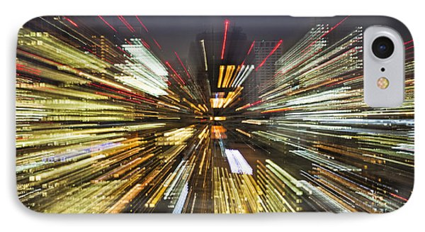 Tokyo Lights At Night A Zoom Effect IPhone Case by Bryan Mullennix