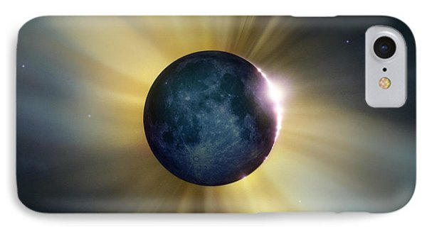 Total Solar Eclipse Phone Case by Detlev Van Ravenswaay
