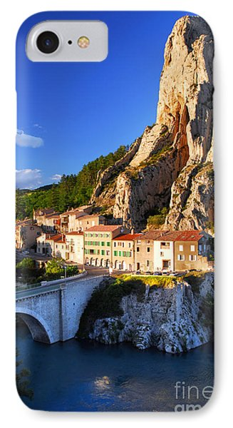 Town Of Sisteron In Provence France IPhone Case by Elena Elisseeva