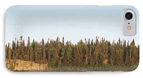 Trees Covering An Island On Lake Phone Case by Susan Dykstra
