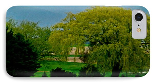 Trees Gulp In The Color Phone Case by Debra     Vatalaro