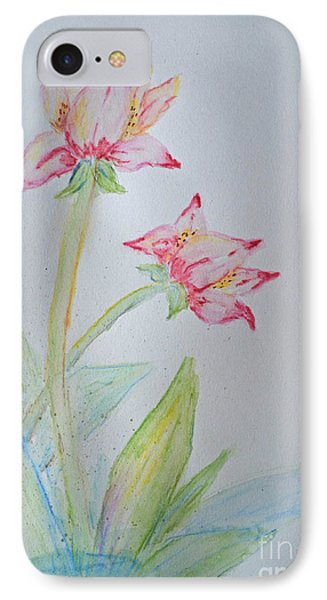 Tulip Duo I  Phone Case by Debbie Portwood