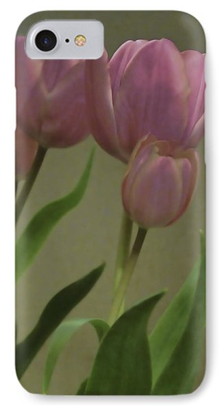 Tulips Reflections Phone Case by Debra     Vatalaro