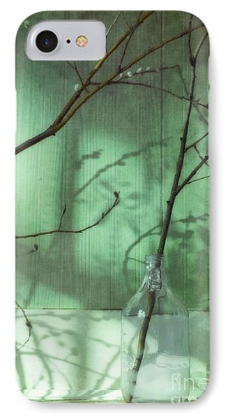 Twigs Shadows And An Empty Beer Jug Phone Case by Priska Wettstein