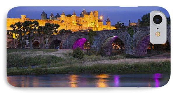 Twilight Over Carcassonne Phone Case by Brian Jannsen