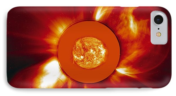 Two Coronal Mass Ejections Phone Case by Solar & Heliospheric Observatory consortium (ESA & NASA)