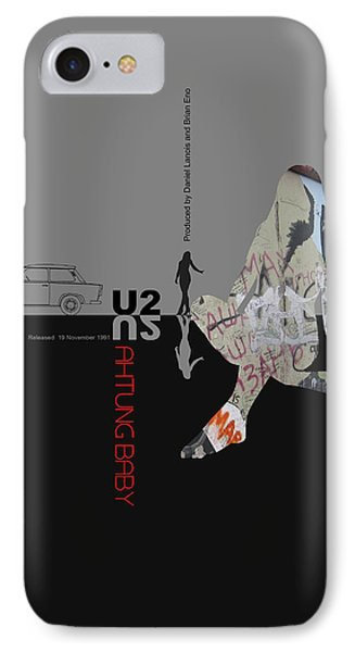 U2 Poster IPhone Case by Naxart Studio
