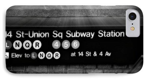 Union Square Subway Station Bw Phone Case by Susan Candelario