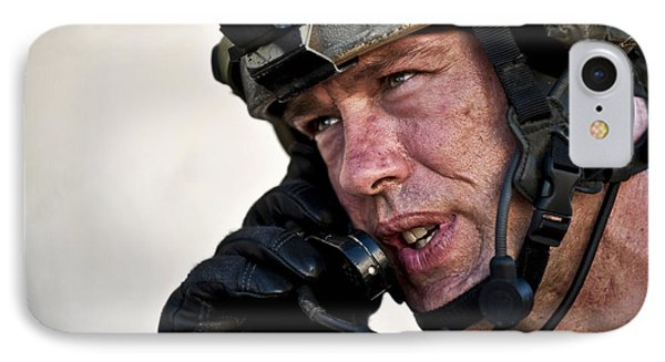 U.s. Air Force Sergeant Calls Phone Case by Stocktrek Images