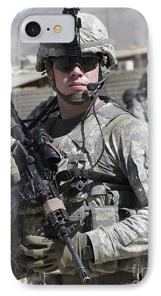 U.s. Army Soldier Conducts A Combat Phone Case by Stocktrek Images