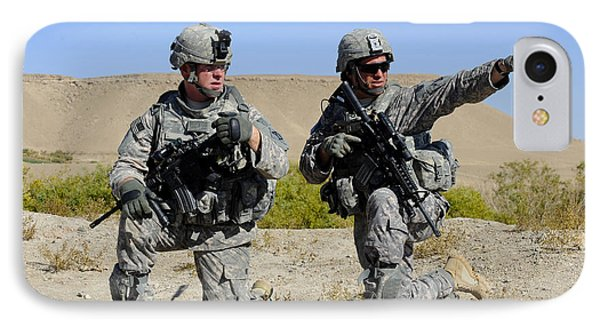 U.s. Army Soldiers Familiarize Phone Case by Stocktrek Images