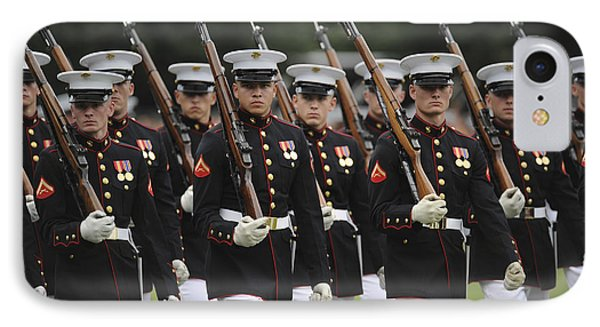 U.s. Marines March By During The Pass Phone Case by Stocktrek Images