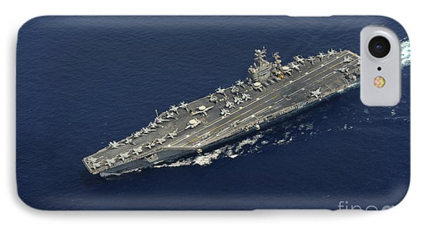 Uss Abraham Lincoln Transits The Indian Phone Case by Stocktrek Images
