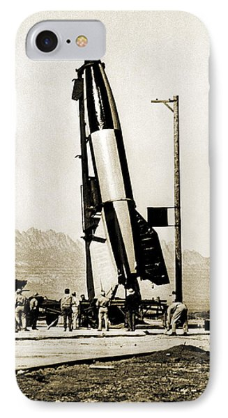 V-2 Rocket Prior To First Us Launch Phone Case by Detlev Van Ravenswaay