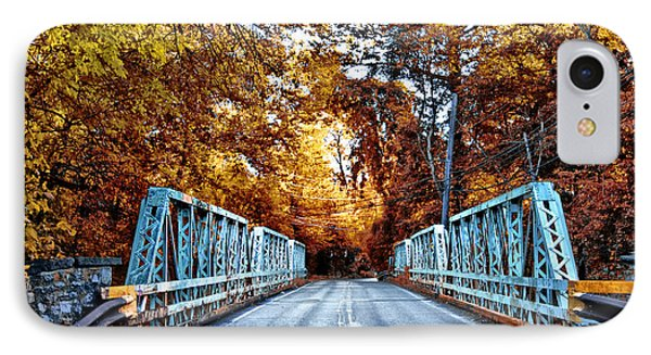 Valley Green Road Bridge In Autumn IPhone Case by Bill Cannon