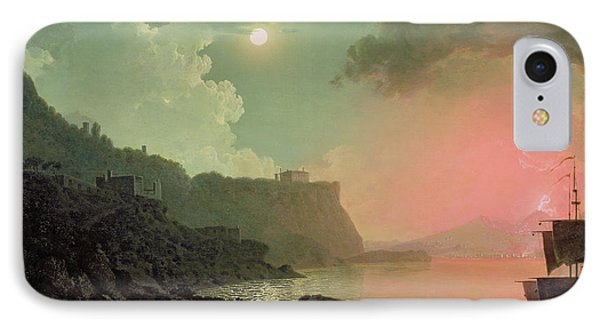 Vesuvius From Posillipo IPhone Case by Joseph Wright of Derby
