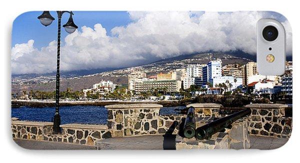View Of Puerto De La Cruz From Plaza De Europa Phone Case by Fabrizio Troiani