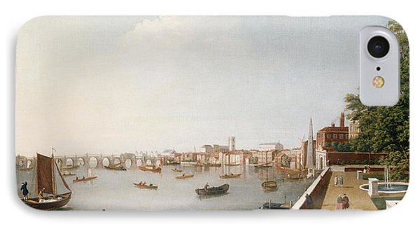 View Of The River Thames From The Adelphi Terrace  IPhone Case by William James