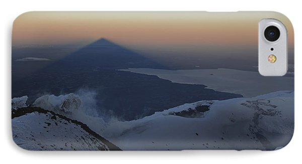 Villarrica, Summit View With Shadow Phone Case by Martin Rietze