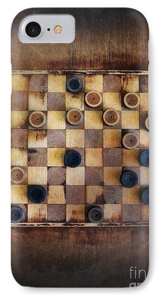 Vintage Checkers Game Phone Case by Jill Battaglia