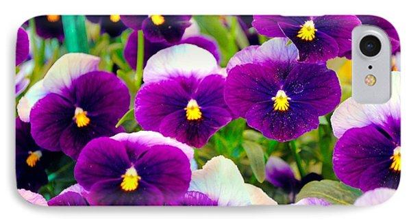 Violet Pansies Phone Case by Sumit Mehndiratta