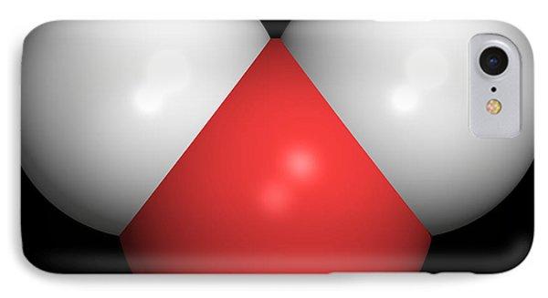 Water Molecule Phone Case by Friedrich Saurer