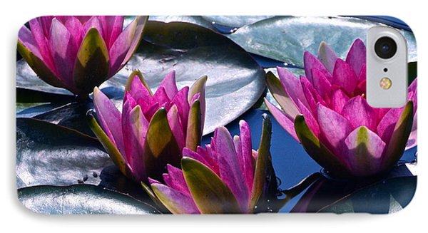 Waterlilies In Bright Sunlight Phone Case by Byron Varvarigos
