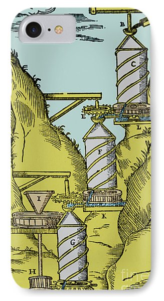 Watermill Reversed Archimedean Screw Phone Case by Science Source
