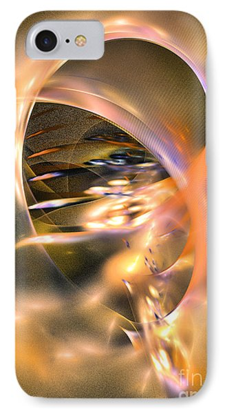 Way To Thoughts - Fractal Art IPhone Case by Sipo Liimatainen