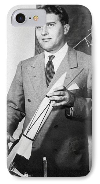 Wernher Von Braun, German Rocket Designer Phone Case by Nasa