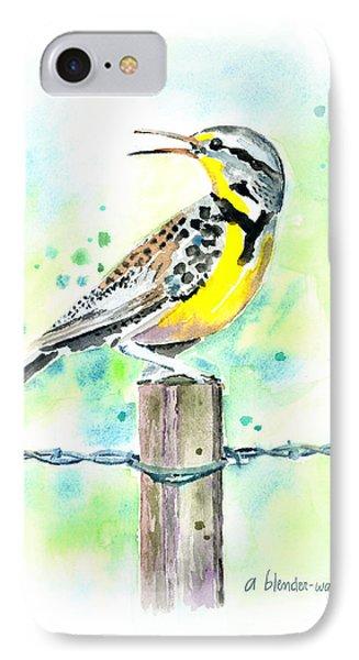 Western Meadowlark IPhone Case by Arline Wagner