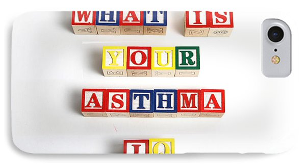 What Is Your Asthma Iq Phone Case by Photo Researchers