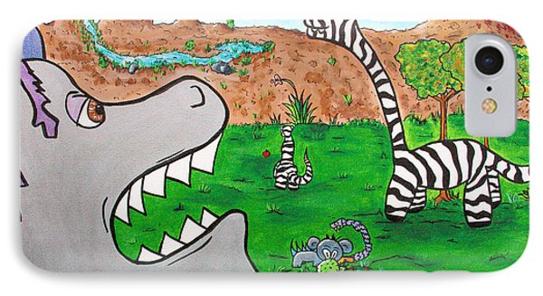 When Zebrasaurs Walked The Earth Phone Case by Jera Sky