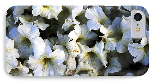 White Flowers At Dusk Phone Case by Sumit Mehndiratta