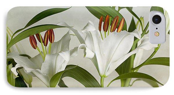 White Lilies IPhone Case by Nailia Schwarz