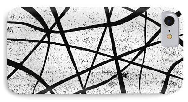 White On Black IPhone Case by Hakon Soreide