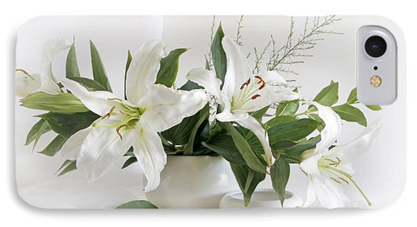 Whites Lilies Phone Case by Matild Balogh