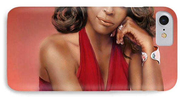 Whitney Houston Phone Case by Reggie Duffie