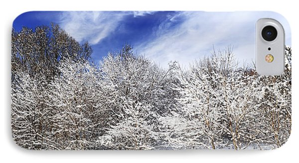 Winter Forest Covered With Snow Phone Case by Elena Elisseeva