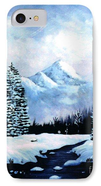 Winter Mountains Phone Case by Phyllis Kaltenbach