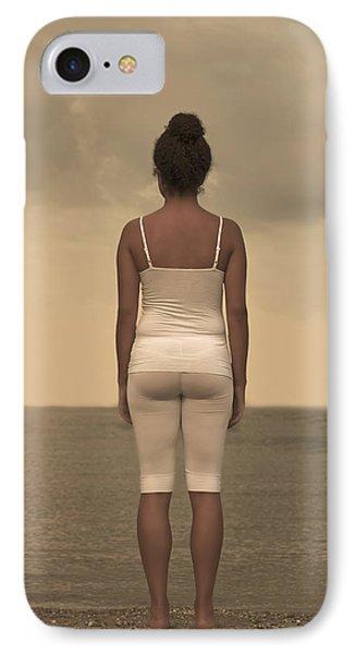 Woman On The Beach IPhone Case by Joana Kruse